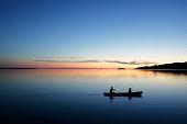 XL twilight canoeing