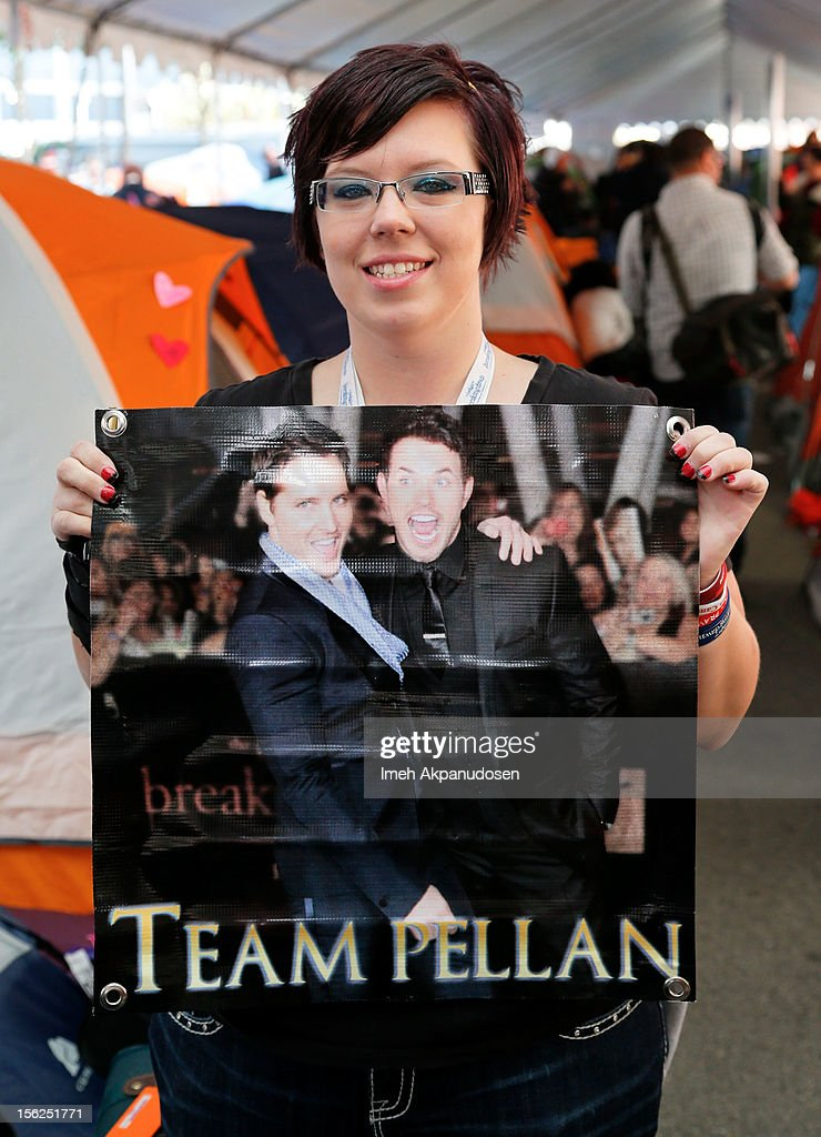 Twilight fan Elizabeth Dhaenens attends the 'Twilight Saga: Breaking Dawn Part 2' Fan Camp held at L.A. LIVE on November 11, 2012 in Los Angeles, California.
