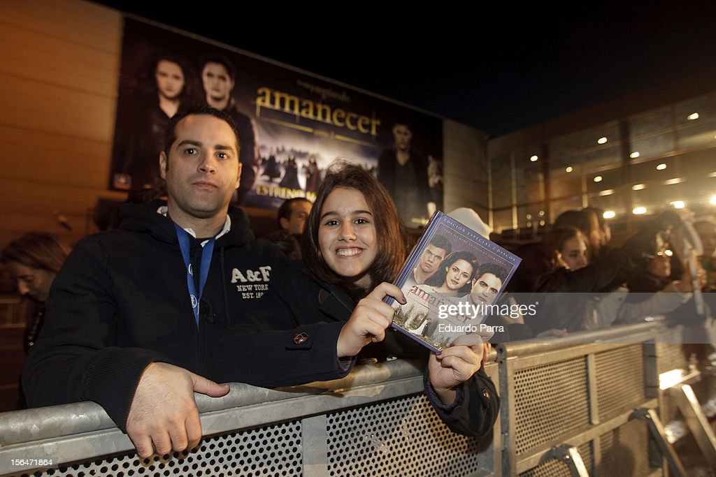 Part 2' ('Amanecer: Parte 2') red carpet at Kinepolis cinema on November 15, 2012 in Madrid, Spain.