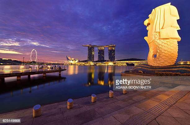 Twilight Marina bay