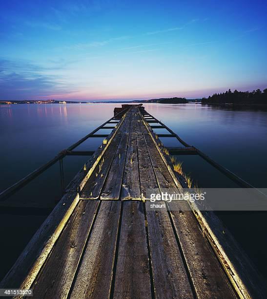 Sonnenuntergang am Pier