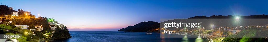 Twilight over the bay at Taganaga