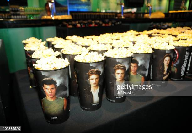 Twilight popcorn cups at the premiere of Summit Entertainment's 'The Twilight Saga Eclipse' during the 2010 Los Angeles Film Festival at Nokia...