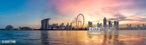 Twilight Singapore skyline