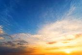 Twilight sky background,Sky sunset sunrise orange sky blue