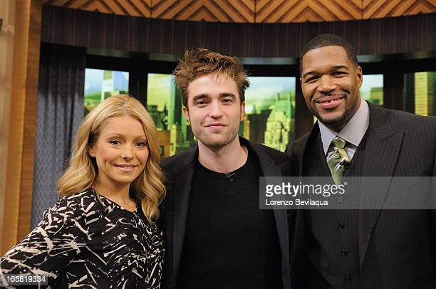 "MICHAEL 11/08/12 ""Twilight"" star Robert Pattinson is a guest on the newlyrechristened syndicated talk show LIVE with Kelly and Michael' distributed..."