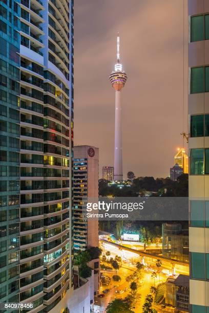 Twilight time at Kuala Lumpur Tower, Malaysia,