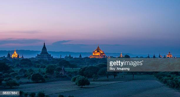 Twilight time at old Bagan, Myanmar
