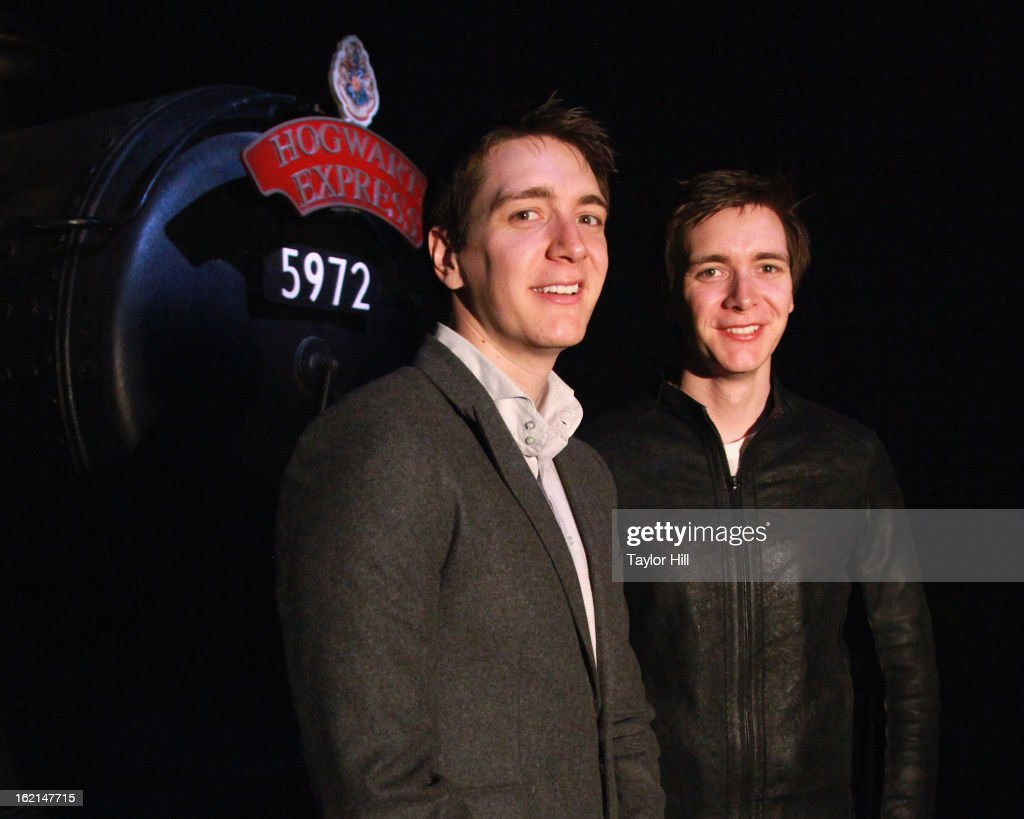 James And Oliver Phelps Visit Harry Potter: The Exhibition