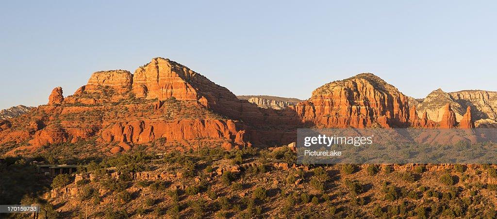 Twin Buttes at sunset, Sedona, Arizona