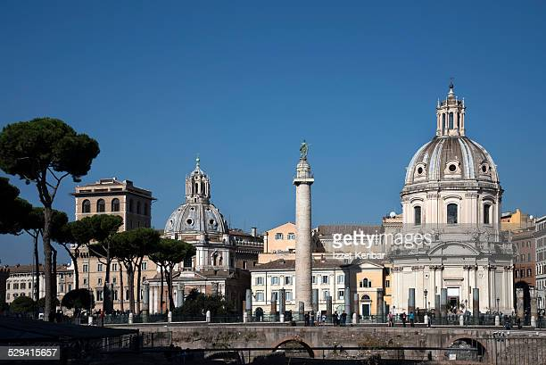 Twin churches near Piazza Venezia Rome, Italy