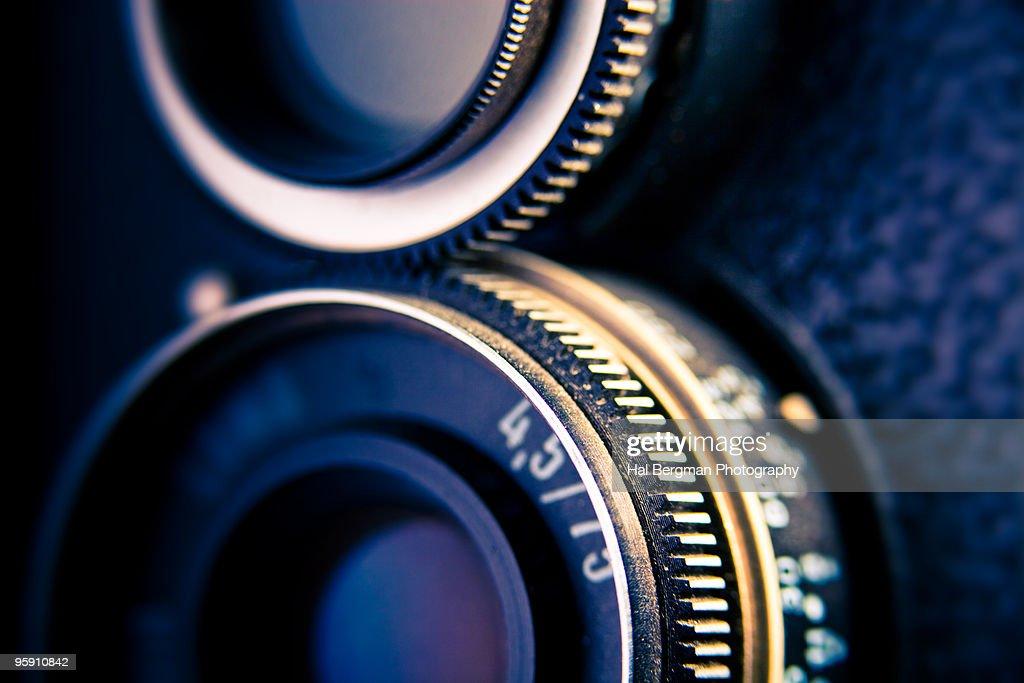 Twin Lens Reflex Camera : Stock Photo