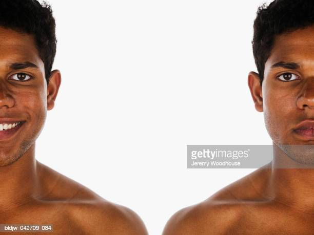 Twin profile of a young man