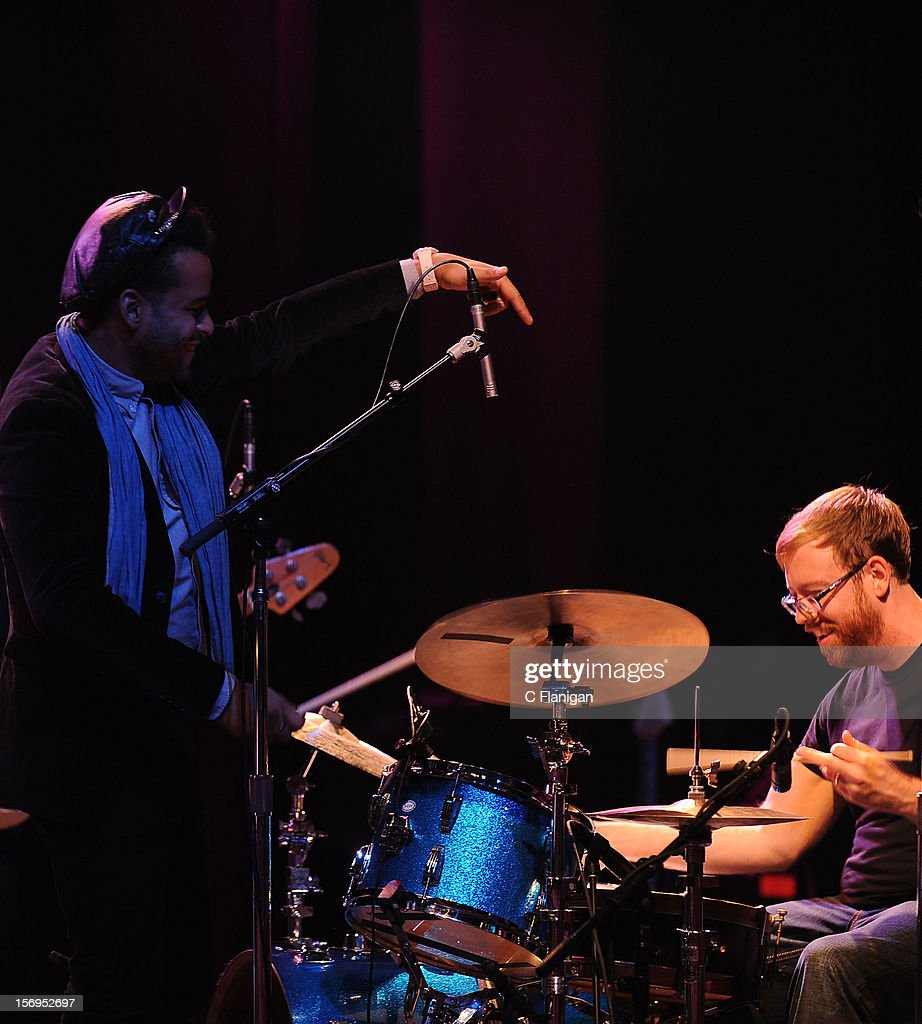 <a gi-track='captionPersonalityLinkClicked' href=/galleries/search?phrase=Twin+Shadow&family=editorial&specificpeople=7404075 ng-click='$event.stopPropagation()'>Twin Shadow</a> and Joe Russo perform at The Last Waltz Tribute Concert at The Warfield Theater on November 24, 2012 in San Francisco, California.