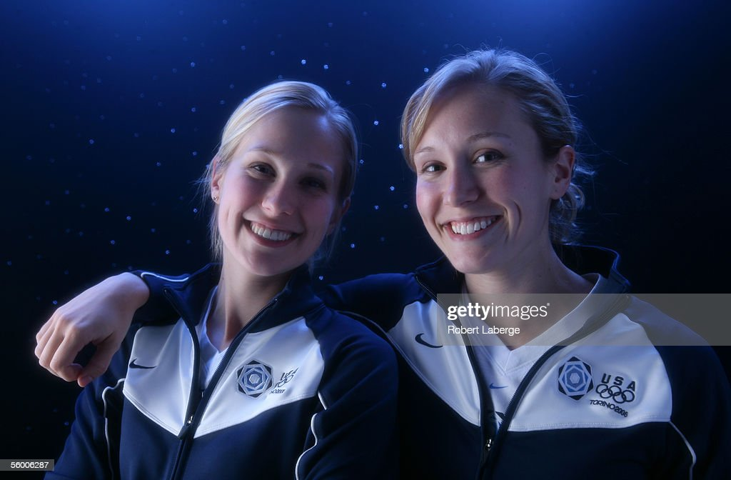 Twin sisters Cassie and Jamie Johnson pose for a portrait during the USOC Olympic Media Summit at the Antlers Hilton on October 11 2005 in Colorado...