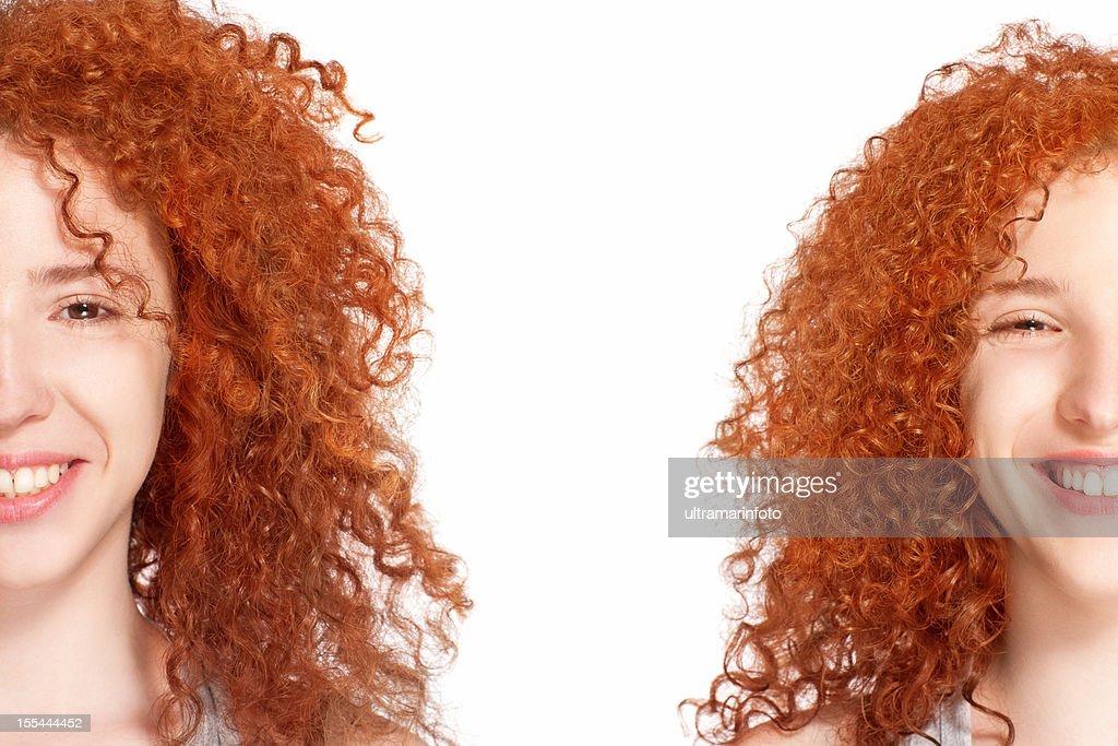 Twin sisters : Stockfoto