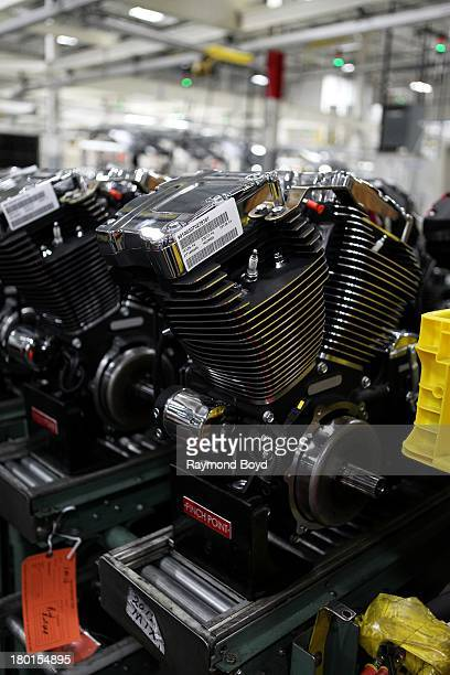 TwinCam Engines for HarleyDavidson motorcycles at the HarleyDavidson Pilgrim Road Powertrain Operations Plant in Menomonee Falls Wisconsin on AU30ST...