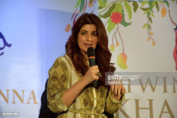 Twinkle Khanna at the launch of her second book The Legend of Lakshmi Prasad published by Juggernaut Books at the JW Marriott on November 15 2016 in...