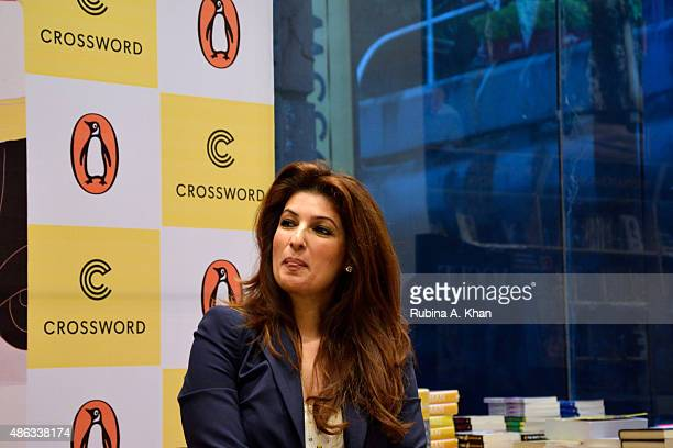Twinkle Khanna attends an In Conversation event for her debut book 'Mrs Funnybones' published by Penguin Random House at Crossword Book Store on...