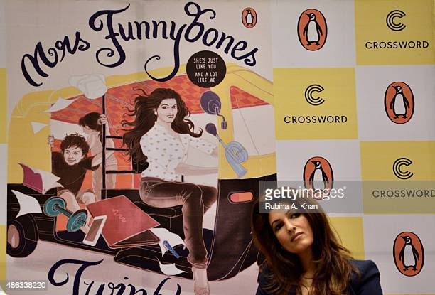 Twinkle Khanna attends an In Conversation event with her readers for her book 'Mrs Funnybones' published by Penguin Random House at Crossword Book...
