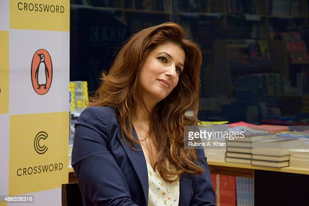 Twinkle Khanna attends an In Conversation event with her readers for her debut book 'Mrs Funnybones' published by Penguin Random House at Crossword...