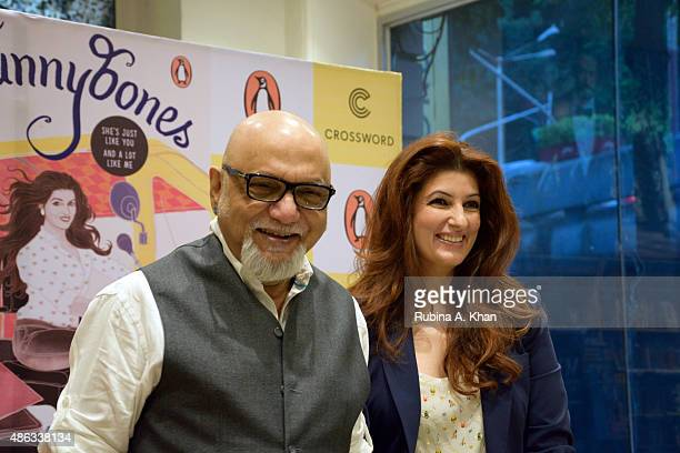 Twinkle Khanna attends an In Conversation event with Pritish Nandy for her debut book 'Mrs Funnybones' published by Penguin Random House at Crossword...