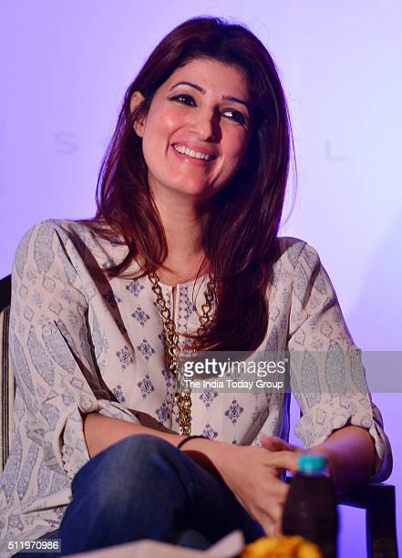 Twinkle Khanna during the launch of book titled The Village Of Pointless Conversation written by Kersi Khambatta in Mumbai