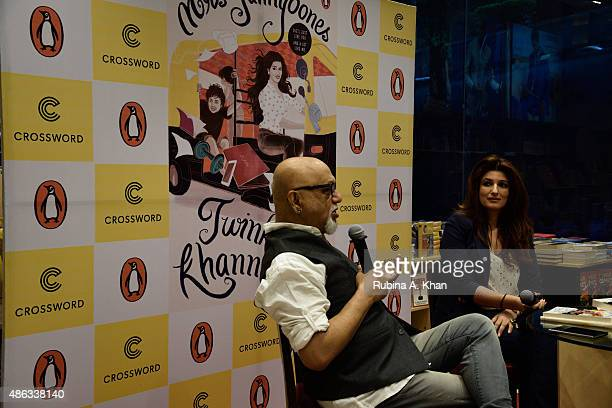Twinkle Khanna in conversation with Pritish Nandy for her debut book 'Mrs Funnybones' published by Penguin Random House at Crossword Book Store on...