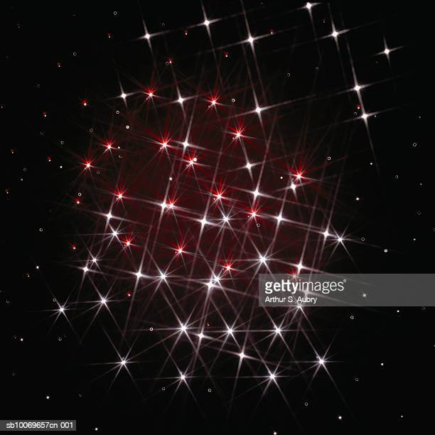 Twinkling cluster of lights, digitally generated