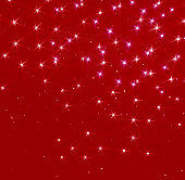 Twinkling lights on red background, digitally generated