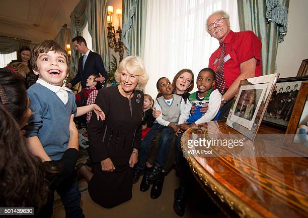 Twins Adam and Aten Ndaka 5 join Camilla Duchess of Cornwall patron of the Helen Douglas House and The London Taxidrivers' Fund as she invites...