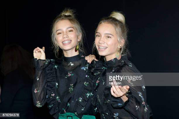 Twins Lena and Lisa attend the New Faces Award Style 2017 at The Grand on November 15 2017 in Berlin Germany