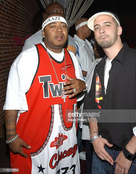 Twista and Jon B during Twista Celebrates his Double Platinum Success at Ivar in Hollywood California United States