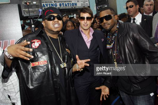 Twista Tom Cruise and Kanye West during Mission Impossible III Premiere Presented by BET's 106 Park at Magic Johnson Theater in New York City New...