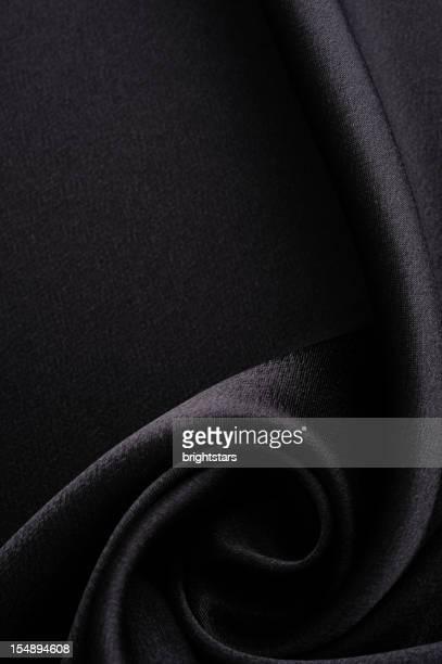 Twisted black satin