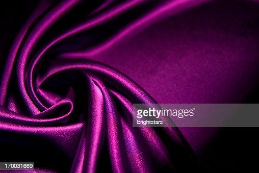 Twisted purple satin