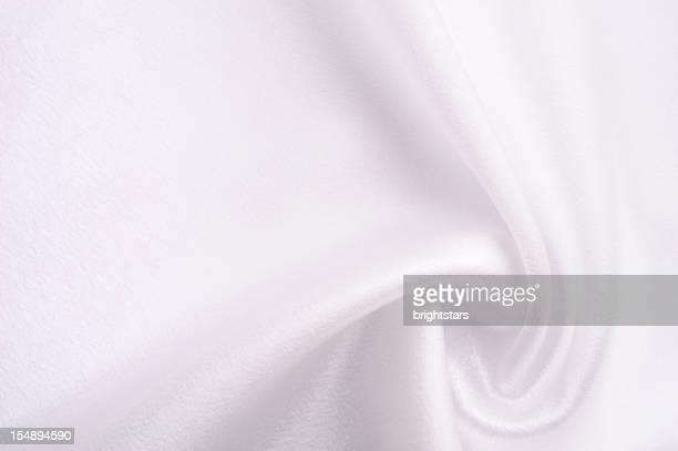 Twisted white satin