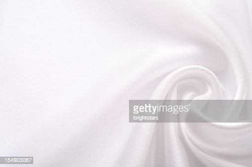 Twisted white satin