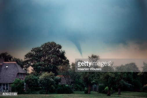 twister / tornado in holland : Stock Photo