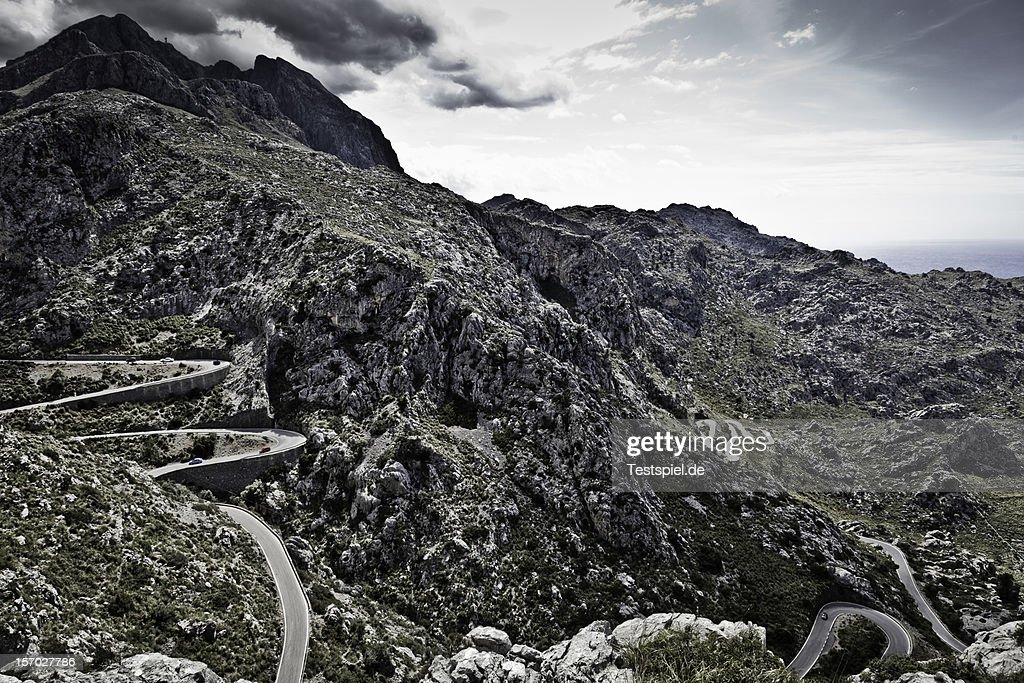 Twisting Road to Canyon de la Calobra : Stock Photo