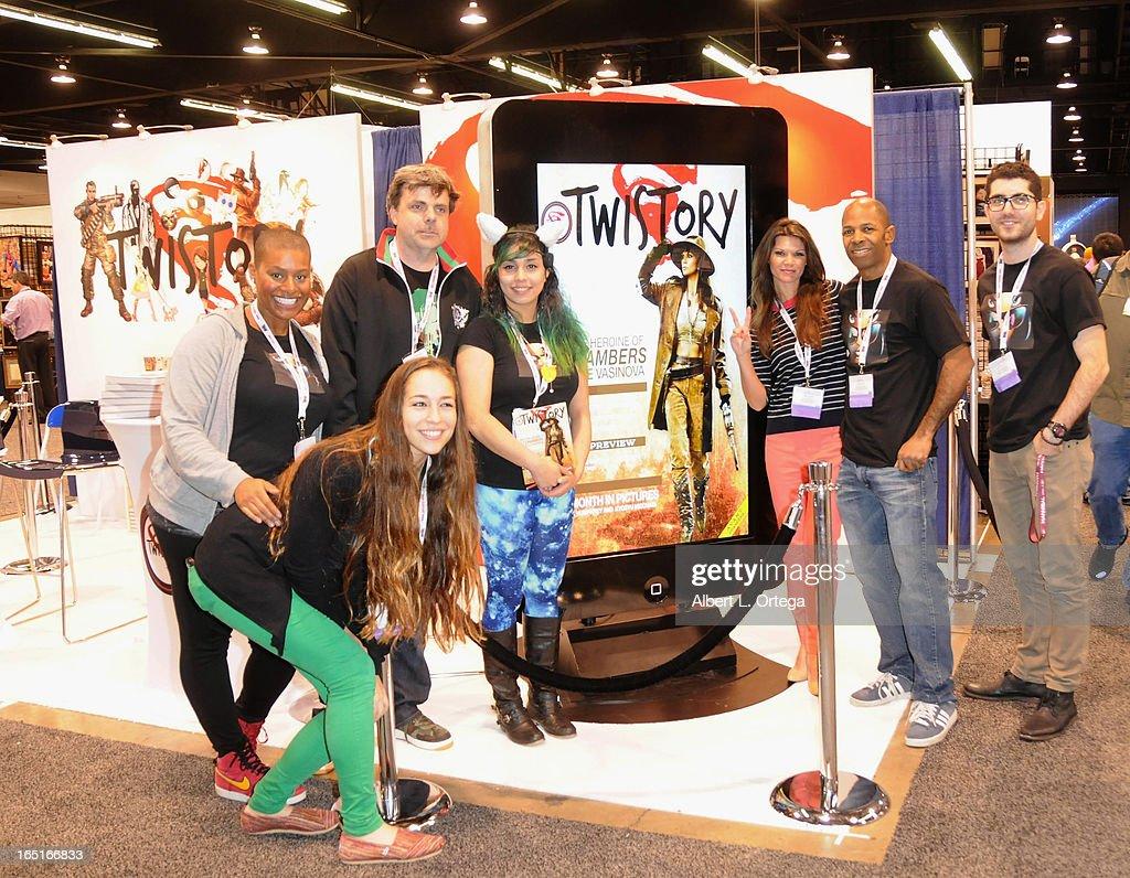 Twistory Studios booth WonderCon Anaheim 2013 - Day 3 held at Anaheim Convention Center on March 31, 2013 in Anaheim, California.