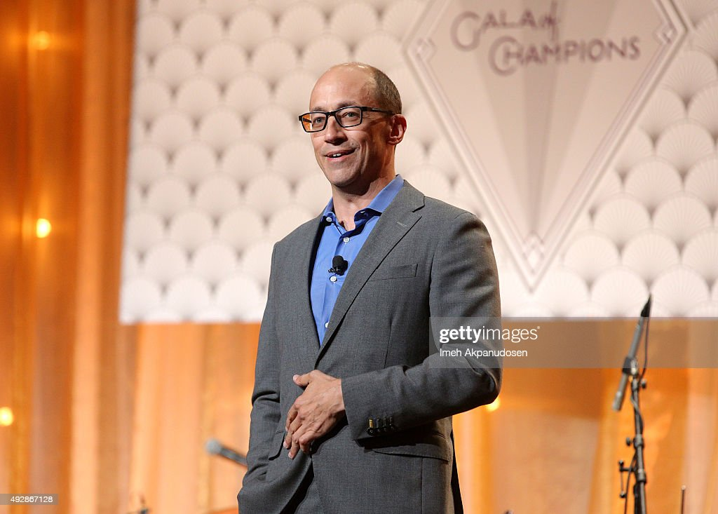 Twitter CEO and 'Heart and Humanity' Champion Dick Costolo speaks on stage at the CoachArt 'Gala of Champions' at The Beverly Hilton Hotel on October...