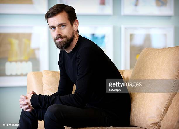 Twitter CEO Jack Dorsey poses during a photo shoot in Sydney New South Wales
