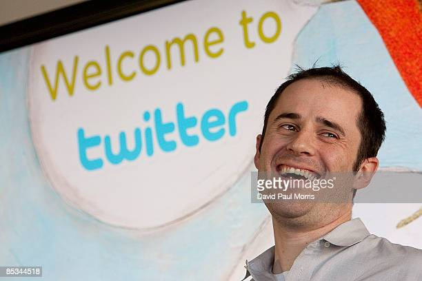 Twitter cofounder and CEO Evan Williams speaks at Twitter headquarters March 10 2009 in San Francisco California Twitter the new social networking...