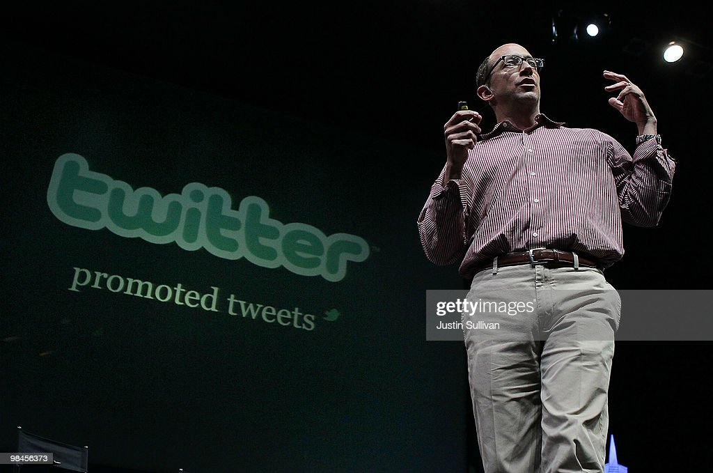 Twitter COO Dick Costolo announces the new Twitter Promoted Tweets during the first annual Chirp, Twitter Developer's Conference April 14, 2010 in San Francisco, California. Chirp, the Twitter Devloper's Conference is a two day event for developers who work with the popular social networking service.