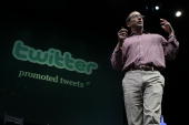 Twitter COO Dick Costolo announces the new Twitter Promoted Tweets during the first annual Chirp Twitter Developer's Conference April 14 2010 in San...