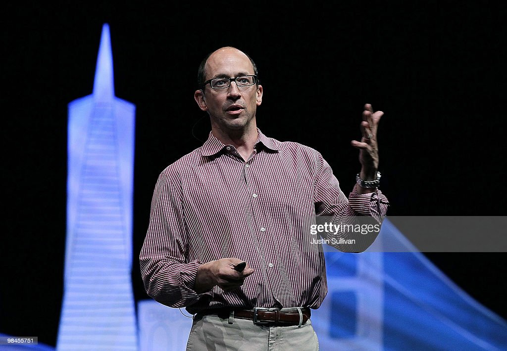Twitter COO Dick Costolo speaks during the first annual Chirp Twitter Developer's Conference April 14 2010 in San Francisco California Chirp the...