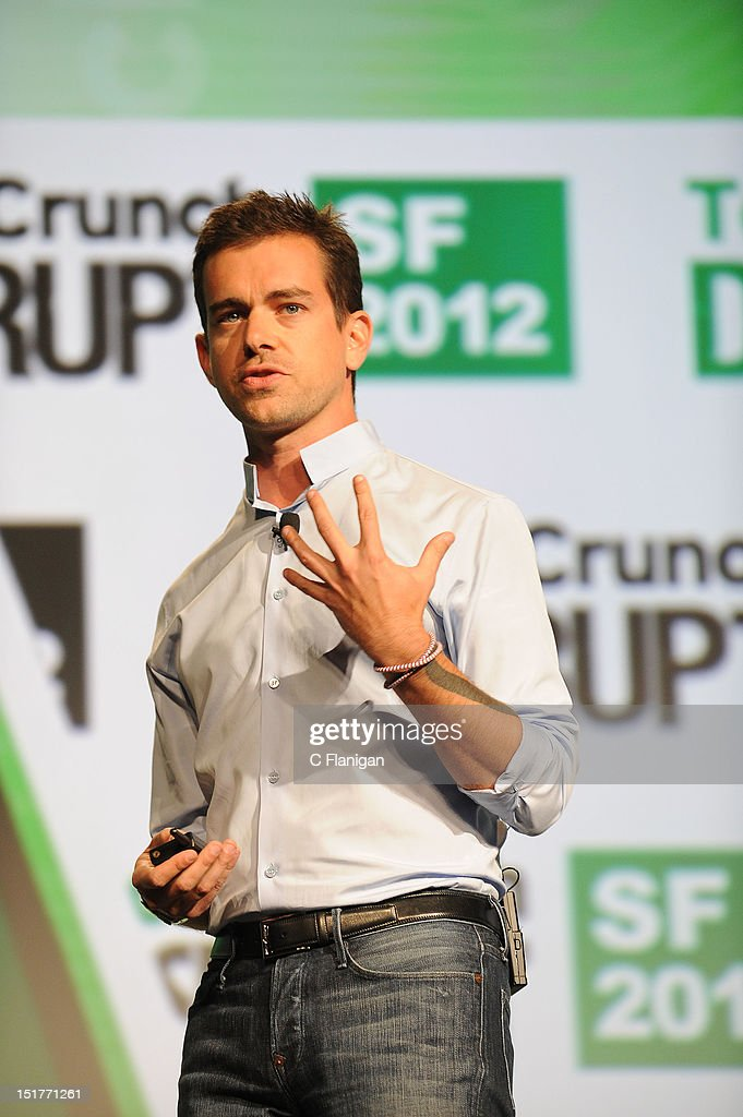 Twitter Founder <a gi-track='captionPersonalityLinkClicked' href=/galleries/search?phrase=Jack+Dorsey&family=editorial&specificpeople=5818892 ng-click='$event.stopPropagation()'>Jack Dorsey</a> speaks at the Tech:Crunch Disrupt SF 2012 Conference on September 10, 2012 in San Francisco, California.