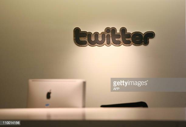 Twitter logo is displayed at the entrance of Twitter headquarters in San Francisco on March 11 2011 in California A US judge on Friday ordered...