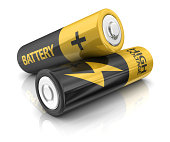 two AA batteries